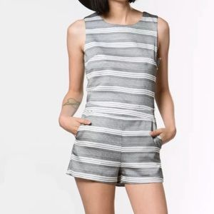J.O.A. Romper with open back